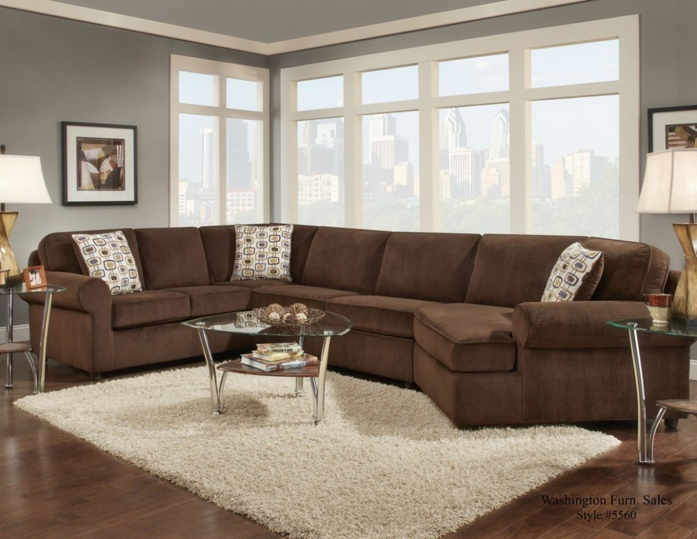 Superbe Dynasty Chocolate 3pc Sectional
