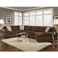 Dynasty Chocolate 3pc Sectional