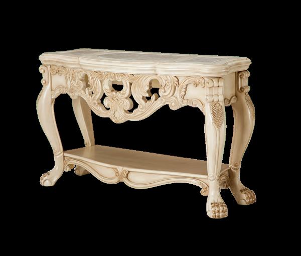 Captivating AMINI Chateau De Lago Console Table Blanc
