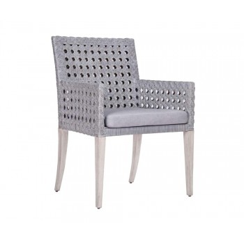 Leeward Graphite Woven Arm Chair