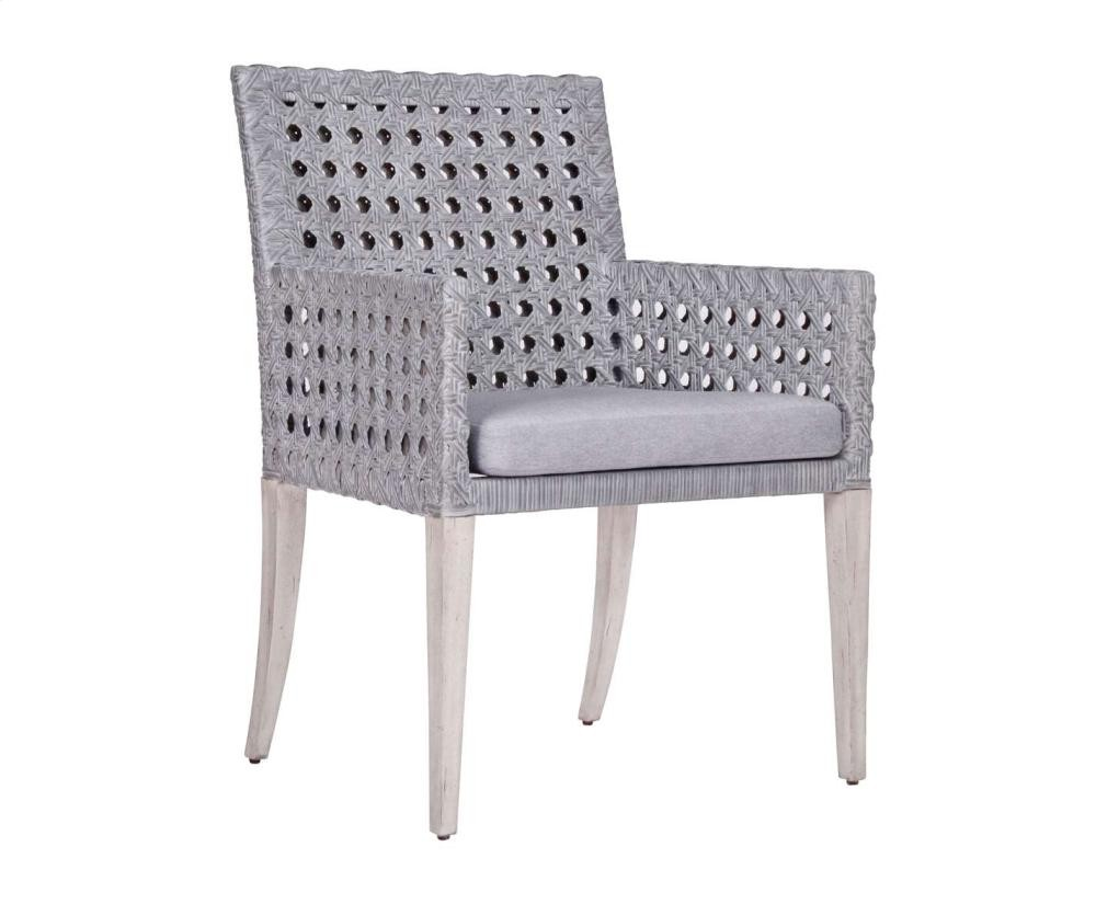 Exceptionnel Leeward Graphite Woven Arm Chair