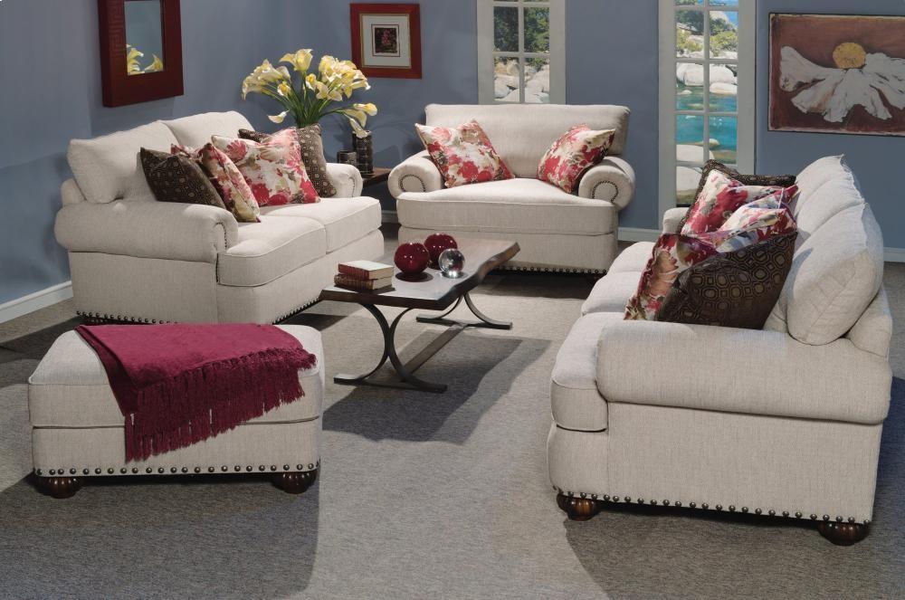 Patterson Fabric Sofa With Nailhead Trim 732231 Sofa