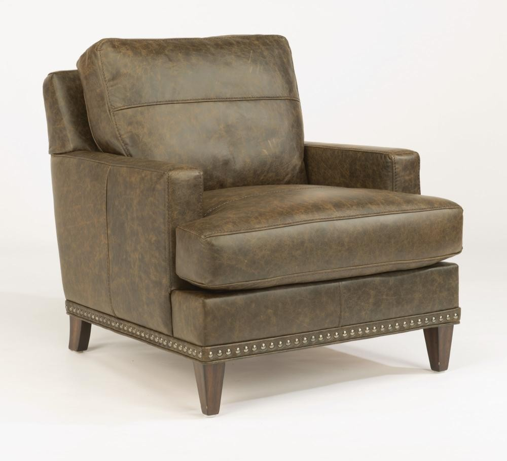 Ocean Leather Chair With Nailhead Trim B336710 Leather