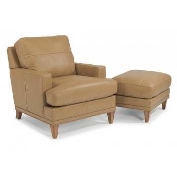 Ocean Leather Chair without Nailhead Trim