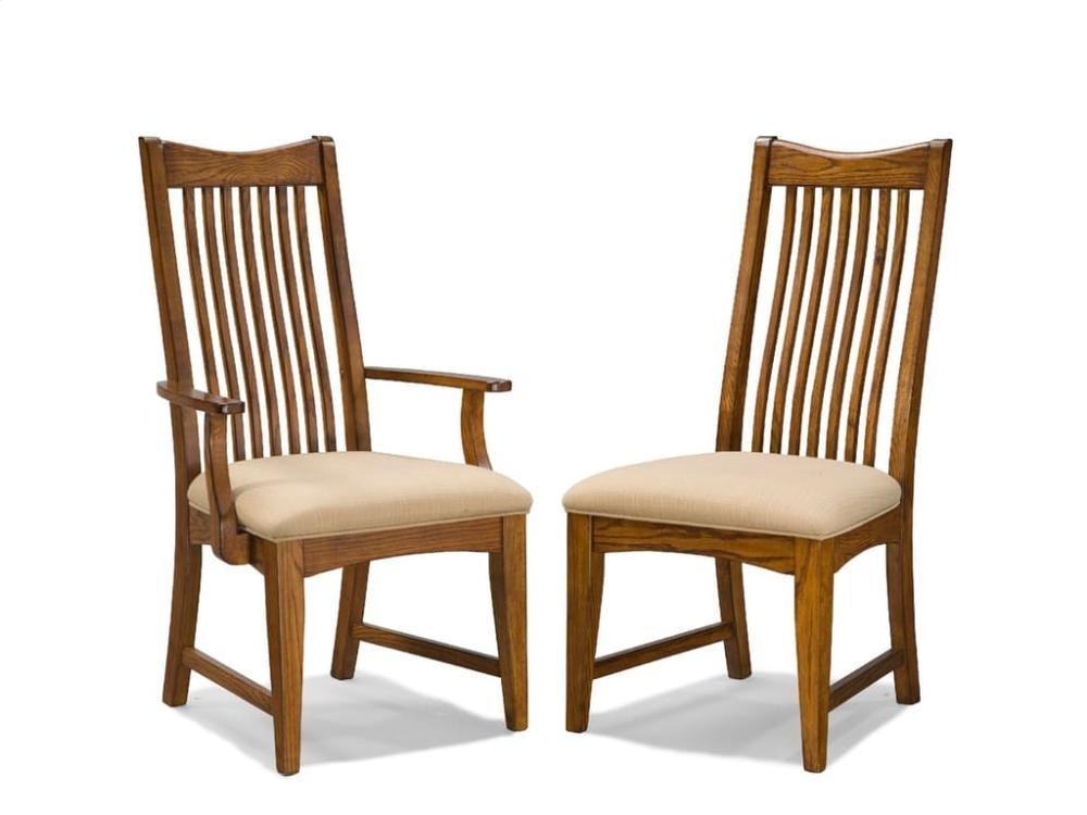 Pasadena Revival Slat Back Arm Chair | PRCH1050CAMBNRTA ...