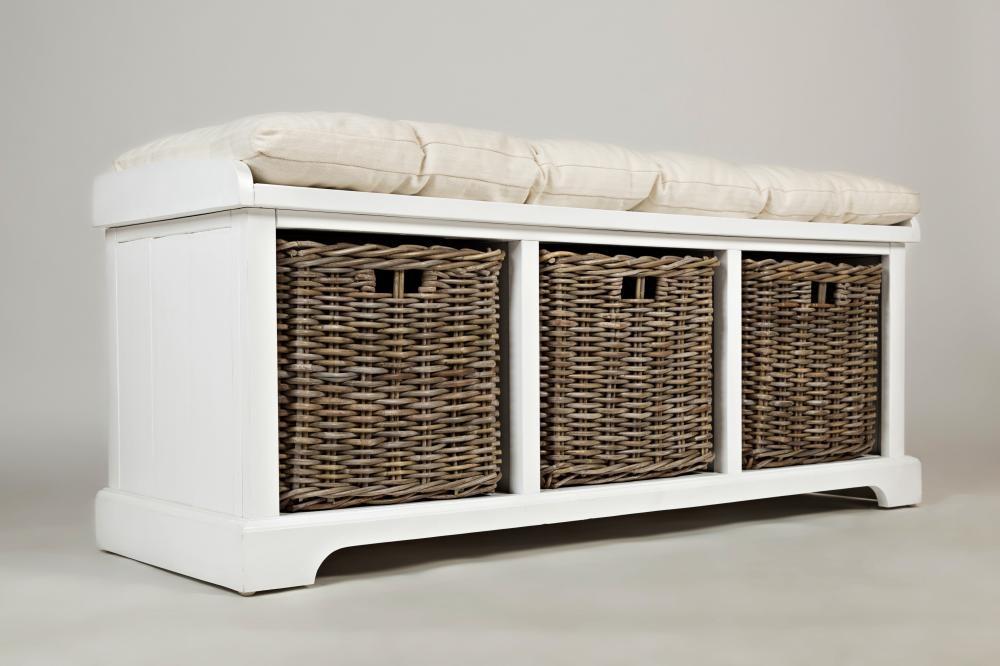 Peachy Natural Origins Chatham White Storage Bench Cjindustries Chair Design For Home Cjindustriesco