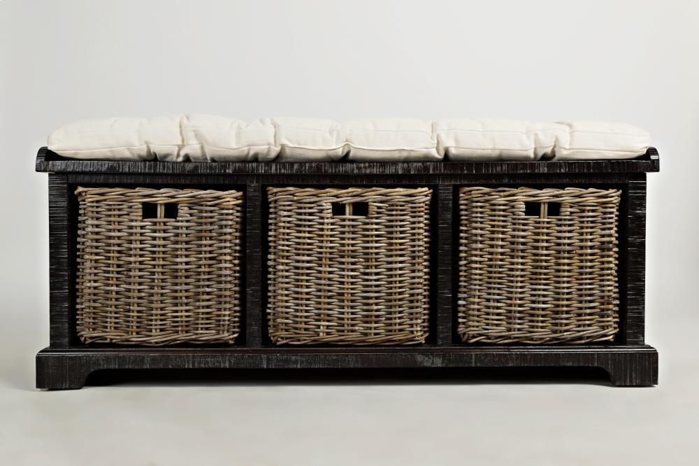 Natural Origins Wellfleet Weathered Grey Storage Bench
