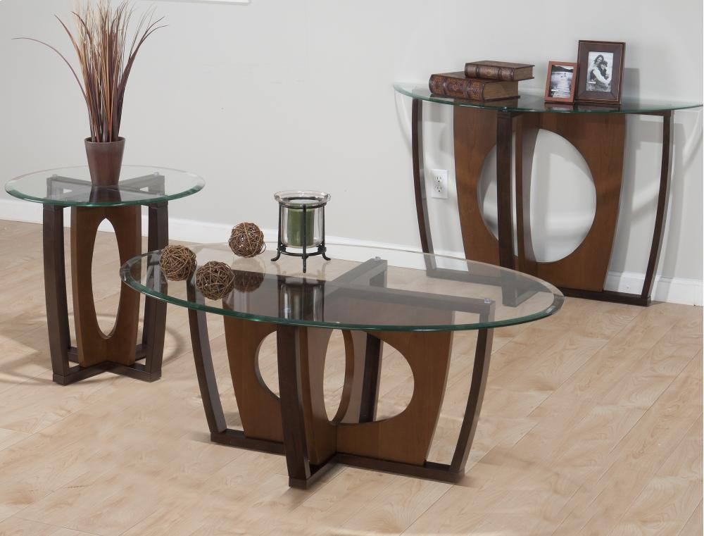 Modern Elipse Cherry Sofa Table plete - Elegant cherry console table Elegant