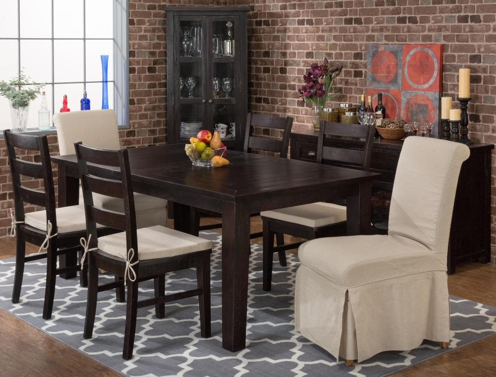 Prospect Creek Rectangle Dining Table With Four Ladderback Chairs - Dining room table for four