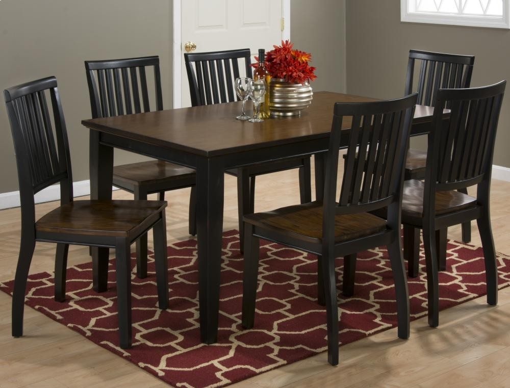 braden antique black rectangle dining table with four chairs 5pc27260 dining room groups. Black Bedroom Furniture Sets. Home Design Ideas