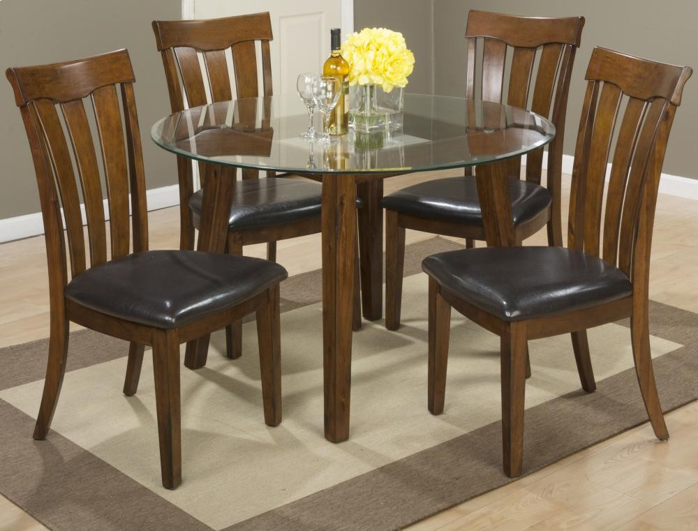 Surprising Plantation 48 Round Glass Top Dining Table With Four Slat Short Links Chair Design For Home Short Linksinfo