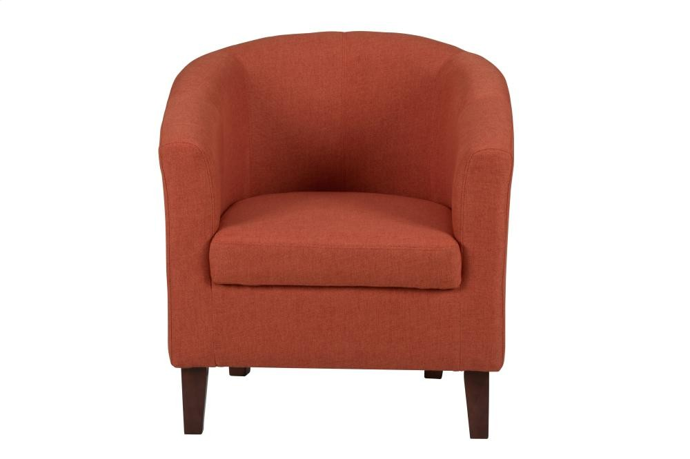 Club Chair W/ Vibrant Citrus Fabric