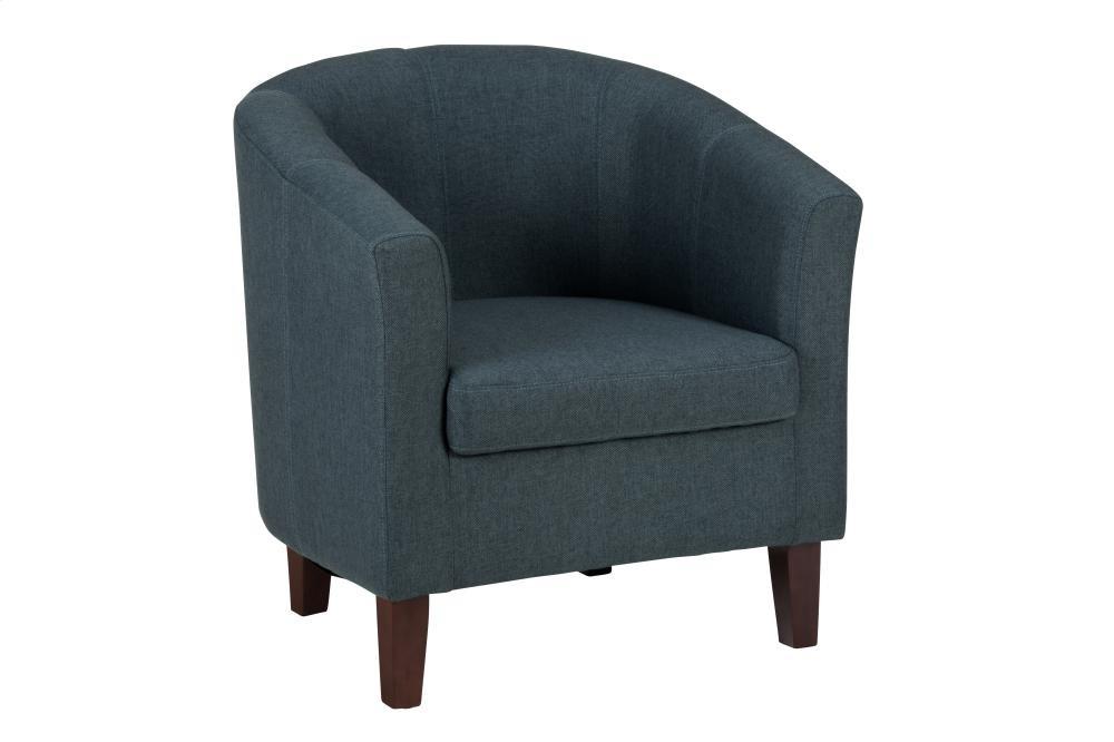 Club Chair W/ Vibrant Cobalt Blue Fabric