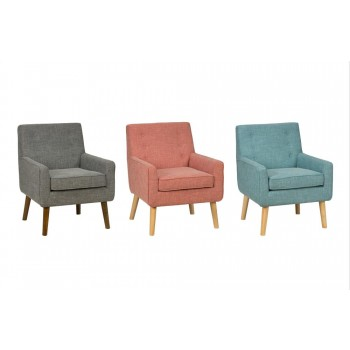 Mila Mod Accent Chair- Peacock Blue