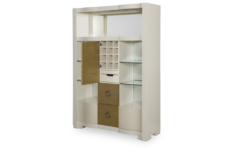 Tower  sc 1 st  Whit-Ash Furnishings & Tower Suite - Pearl Finish Bar Cabinet | Cabinet | Whit-Ash ...