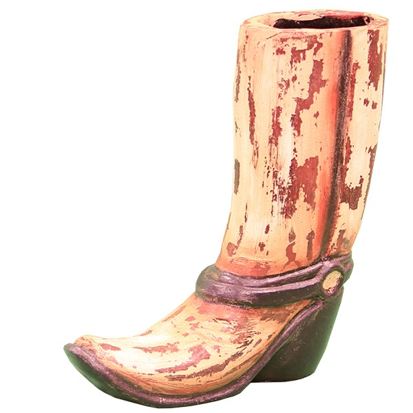 L M T Rustic And Western Imports Ceramic Boot Planter Zchulacc100