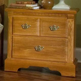 Oak Lane II Bedside Nightstand with 2 Drawers