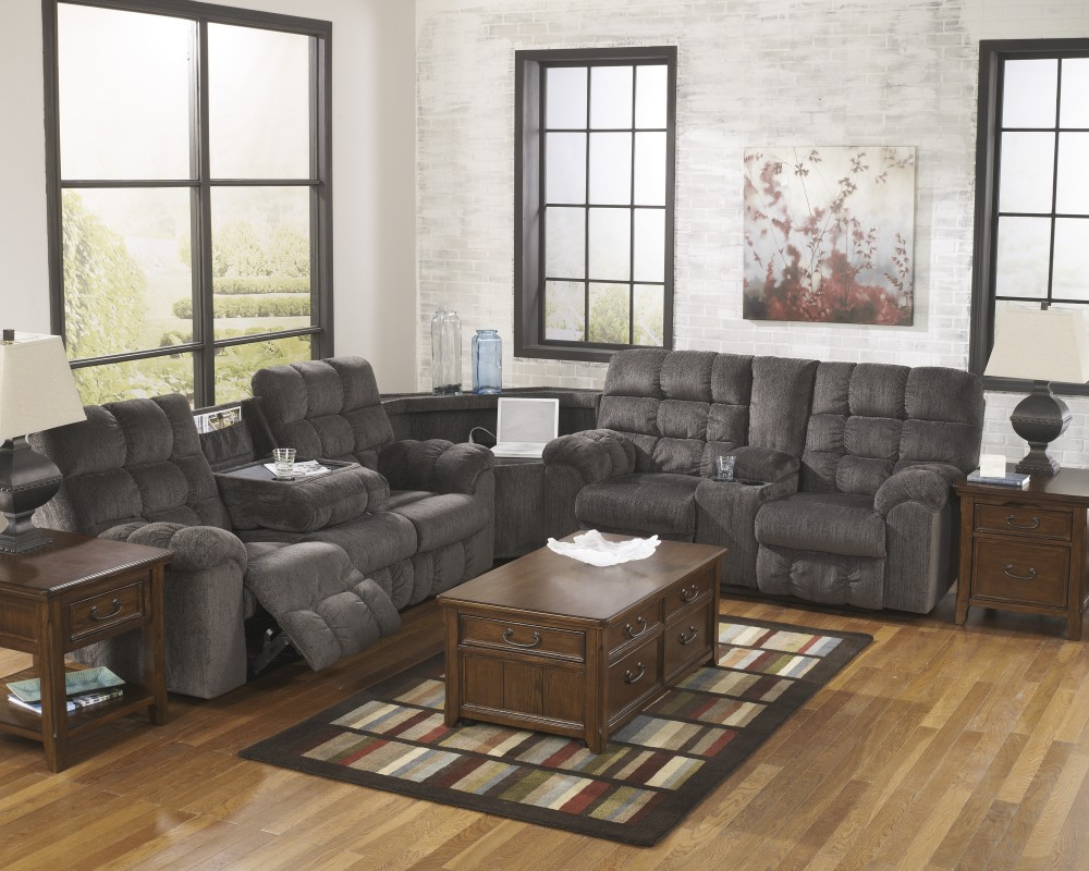 Acieona - Slate 3 Pc. Reclining Sectional