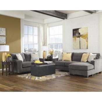 Hodan - Marble - Sofa Chaise & Loveseat