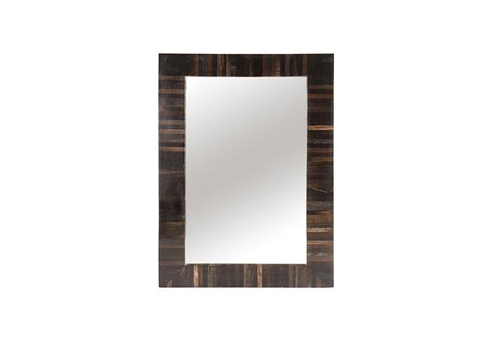 Petrified Wood Mirror Black