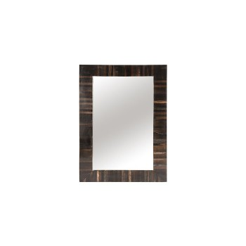 Petrified Wood Mirror Black