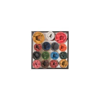 Paint Can Wall Art Square, Assorted Colors, Small