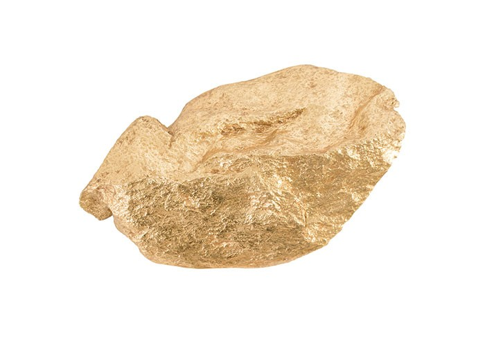 Boulder Wall Art Gold Leaf | Wall Art | At-Hom