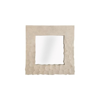 Fading Crazy Cut Mirror Faux Shagreen, Square