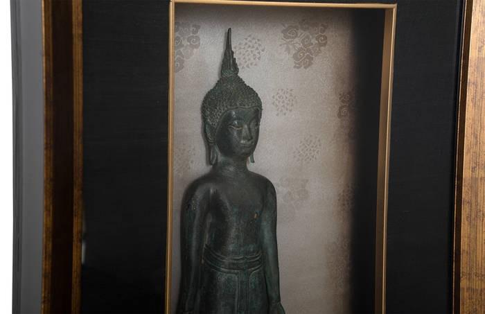 Buddha Shadowboxed Wall Art Classic Pose | Wall Art | At-Hom
