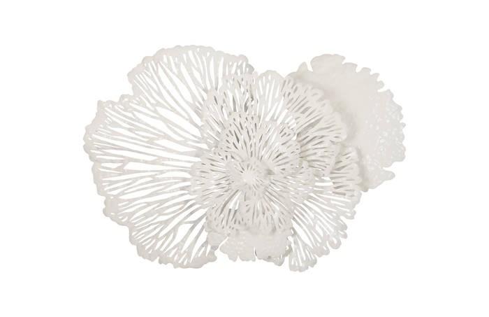 Flower Wall Art White Medium