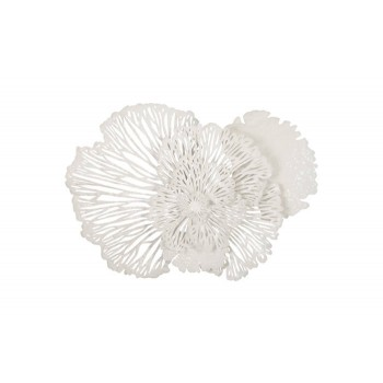 Flower Wall Art White Medium