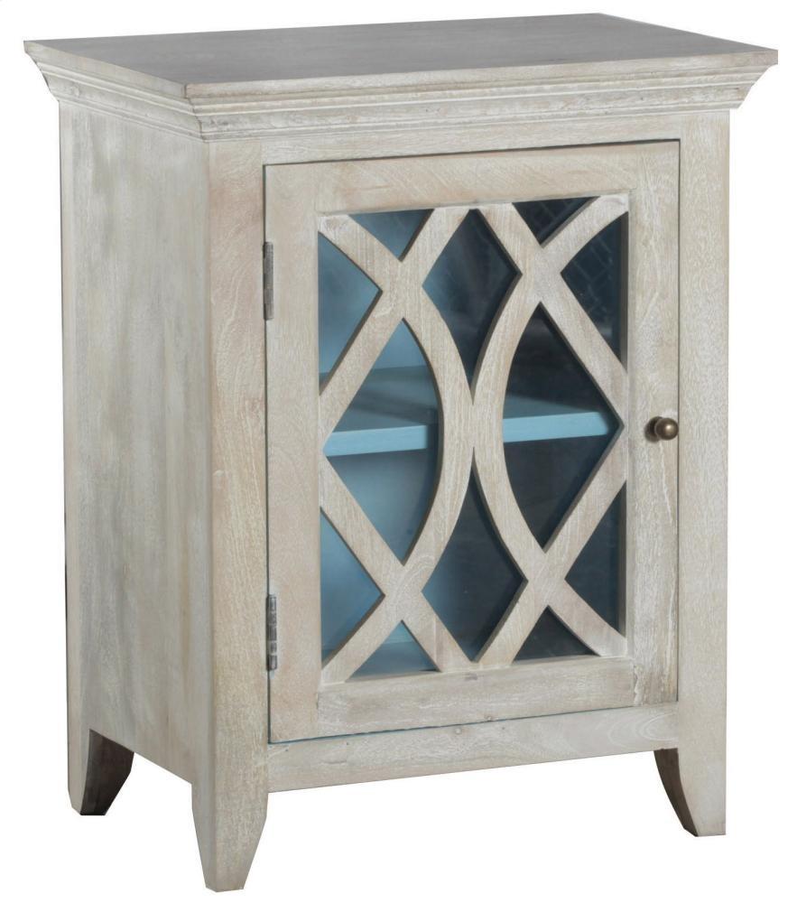 Blanche One Door Accent Cabinet