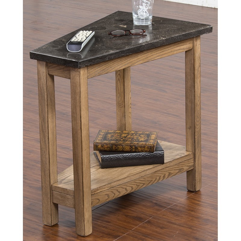 SUNNY DESIGNS Blue Moon Chair Side Table W/ Bluestone Top