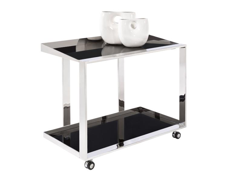 Dining Room Bar Cart: Maddox Bar Cart - Stainless Steel