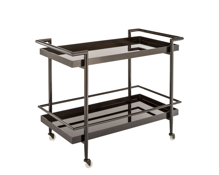 Dining Room Bar Cart: Livingston Bar Cart - Black