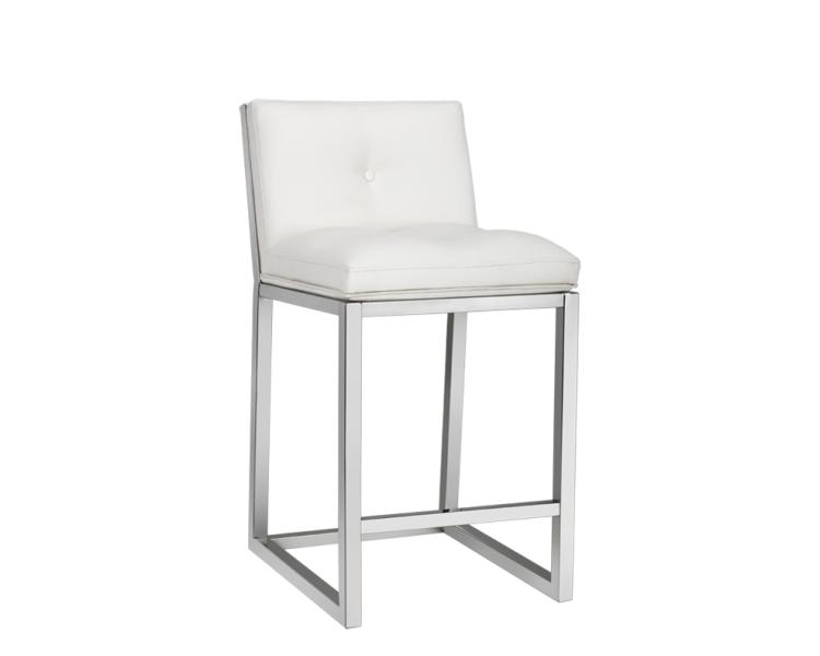 Alba Counter Stool - White