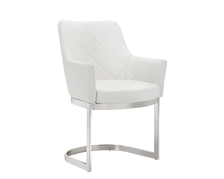 Chase Cantilever Dining Chair - White