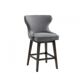 Ariana Swivel Counter Stool - Grey