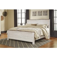 Willowton - Whitewash - King/Cal King Panel Footboard