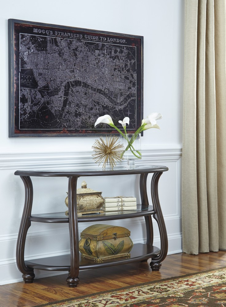 Yexenburg - Dark Brown - Sofa Table | T819-4 | Sofa Tables | New Age ...