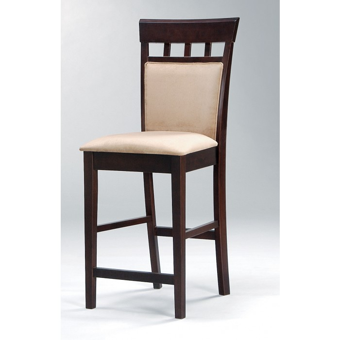 Astounding Beige Padded Seat Bar Chair 100219 Gmtry Best Dining Table And Chair Ideas Images Gmtryco