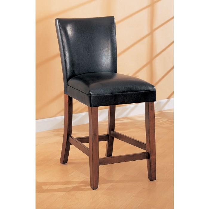 Marvelous Black Faux Leather Bar Chair 100357 Pabps2019 Chair Design Images Pabps2019Com