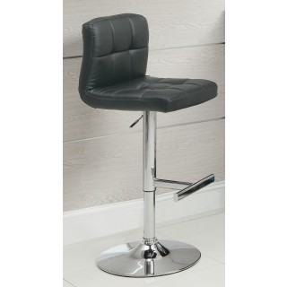 Outstanding Black Barstool With Quilted Back 102554 Gamerscity Chair Design For Home Gamerscityorg