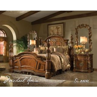 Villa Valencia Low Post Bedroom Group