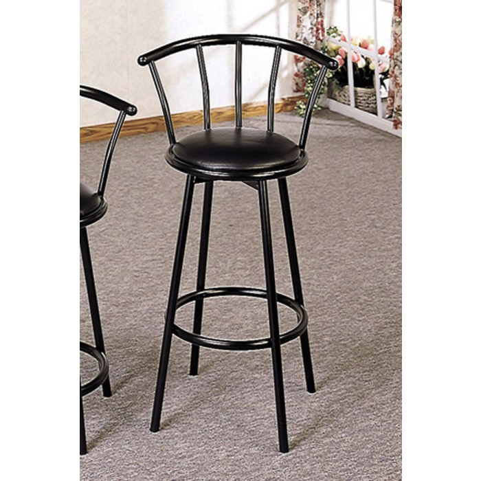 Miraculous Satin Black 29 Bar Stool 2398 Gamerscity Chair Design For Home Gamerscityorg