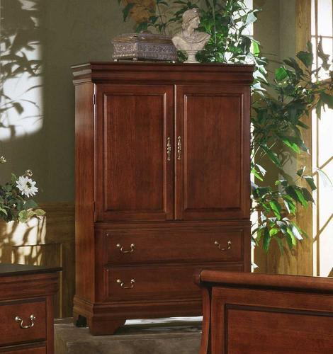 Louis Armoire Ent Center Cherry Finish Bb13 117 Armoires