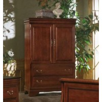 Louis Armoire/Ent. Center - Cherry Finish