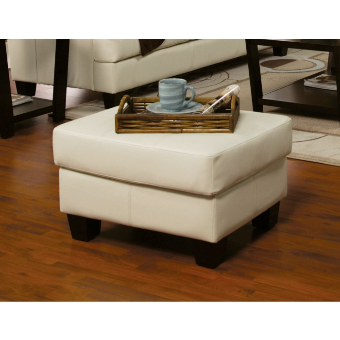 Samuel Collection Ottoman (Leather)