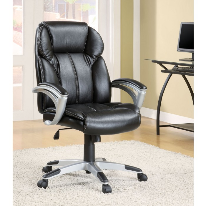 Fantastic Black Vinyl Office Chair Machost Co Dining Chair Design Ideas Machostcouk