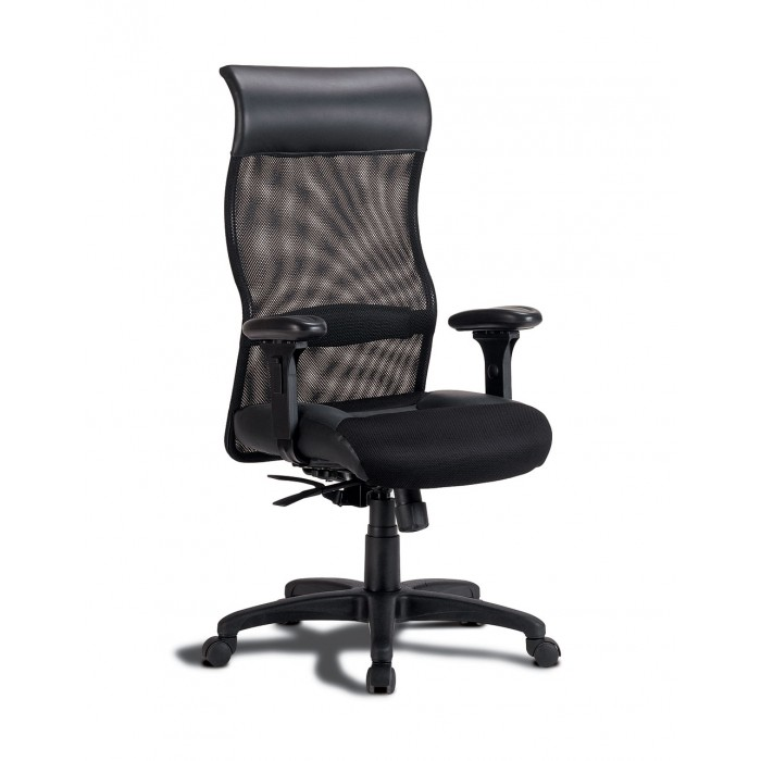 Black Mesh Fabric Office Chair Home Office Desk Chair Seat N Sleep